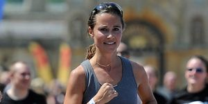 6fa028dad43e8 Pregnant Pippa Middleton Wears Sweaty Betty Swimsuit for Waitrose ...