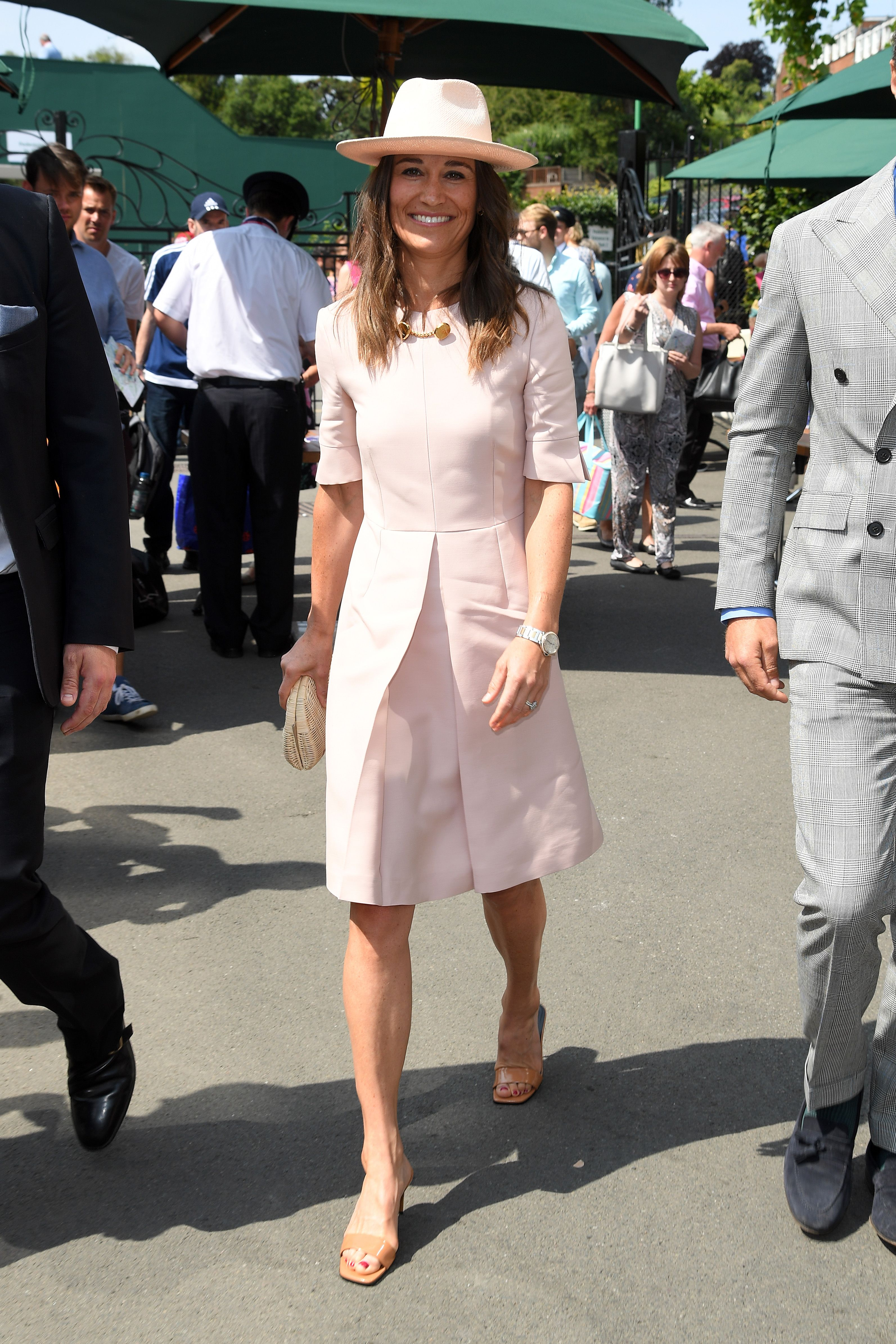 To Pippa Wimbledon Wears All Outfit Pink Middleton 2YWEIHD9