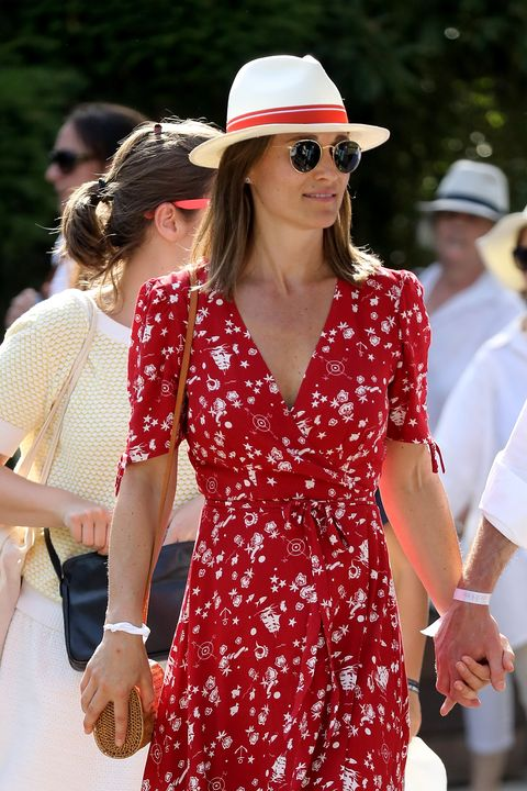 Pippa Middleton French Open Red Dress
