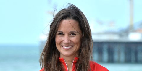 8c97be7853543 Pregnant Pippa Middleton Wears Sweaty Betty Swimsuit for Waitrose Weekend  Exercise Column
