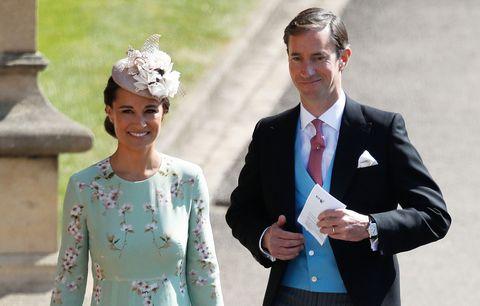 Pippa Middleton and James Matthews arrive at royal wedding
