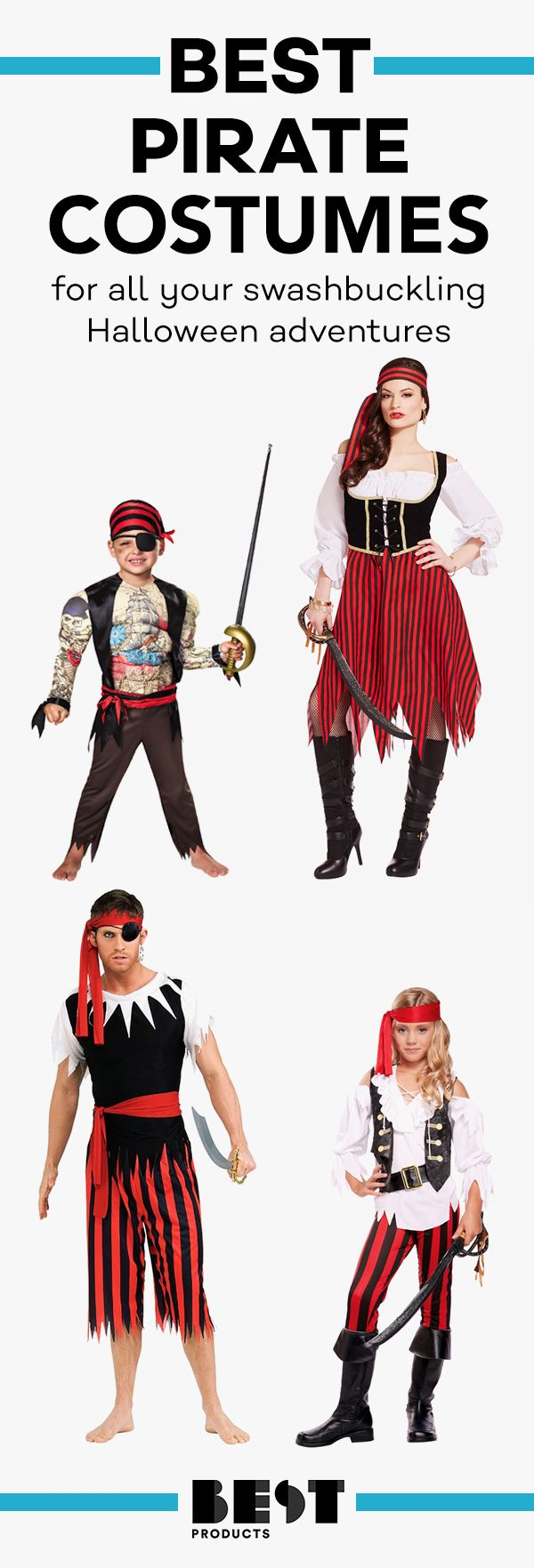 e76fd333a 12 Best Pirate Costumes for Kids & Adults in 2018 - Pirate Halloween  Costumes