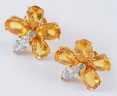 pisa diamanti orecchini dorati fiore primavera estate 2021