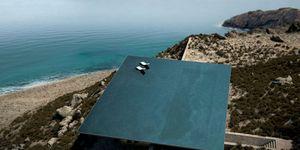 Casa frente al mar con piscina en el tejado
