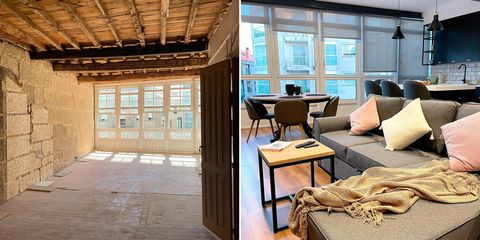 un piso de 1900 reformado antes y después