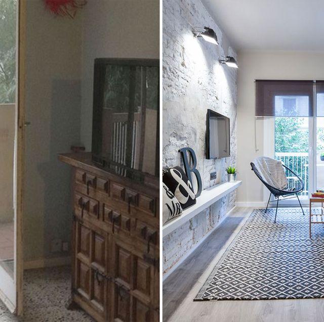 piso de 70 metros familiar antes y después