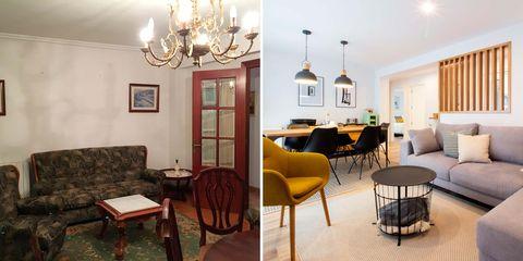 piso moderno antes y después de la reforma