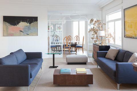 salón de diseño ecléctico, moderno y señorial