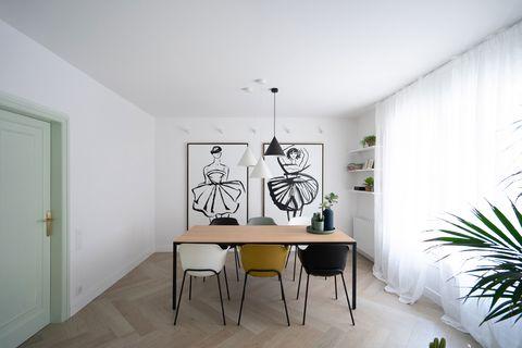 comedor de diseño contemporáneo y minimalista