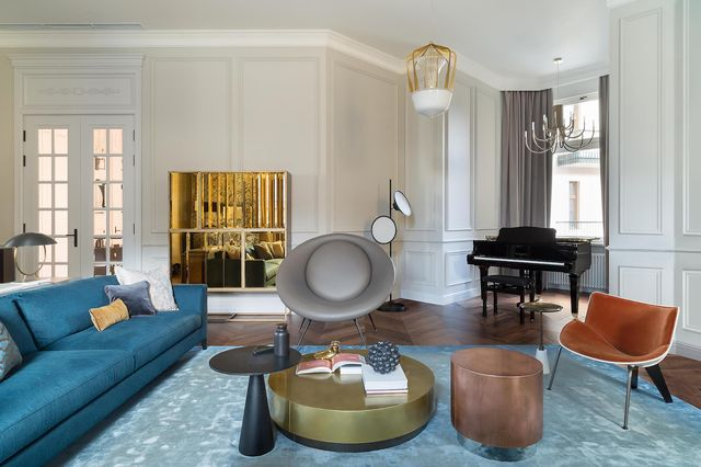 piso dúplex decoración de estilo sofisticado