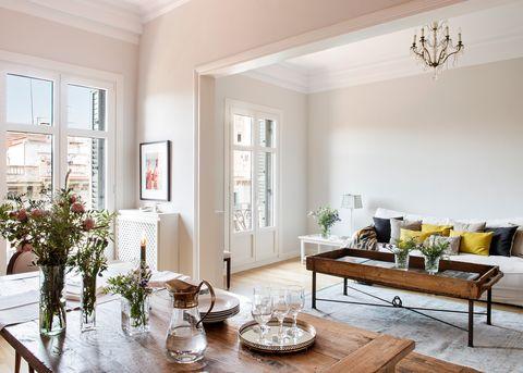 piso de diseño clásico actualizado con espíritu inglés