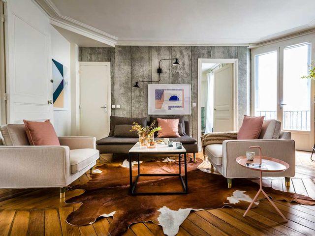 un piso de estilo parisino y nórdico