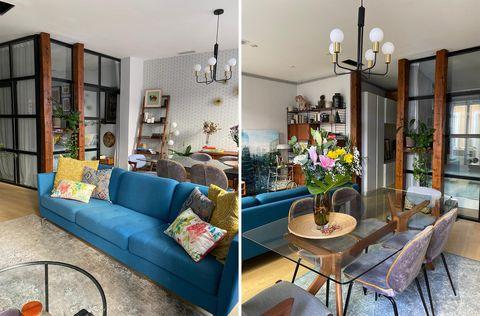 piso de estilo vintage y masculino