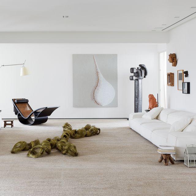piso familiar de una coleccionista de arte en são paulo