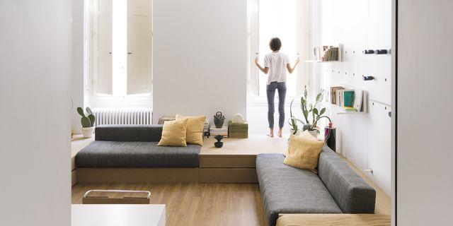 la casa estudio de la arquitecta silvia allori un piso mini aprovechado al máximo con muebles a medida y plegables