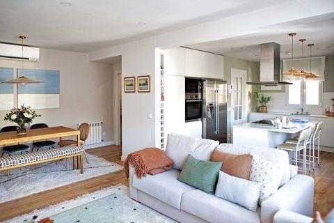 piso en madrid reformado salón, comedor y cocina
