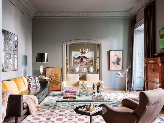 un piso en madrid renovado con antigüedades, diseño y arte