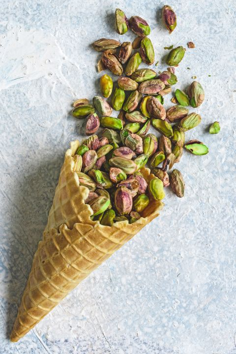 pistachios in cone