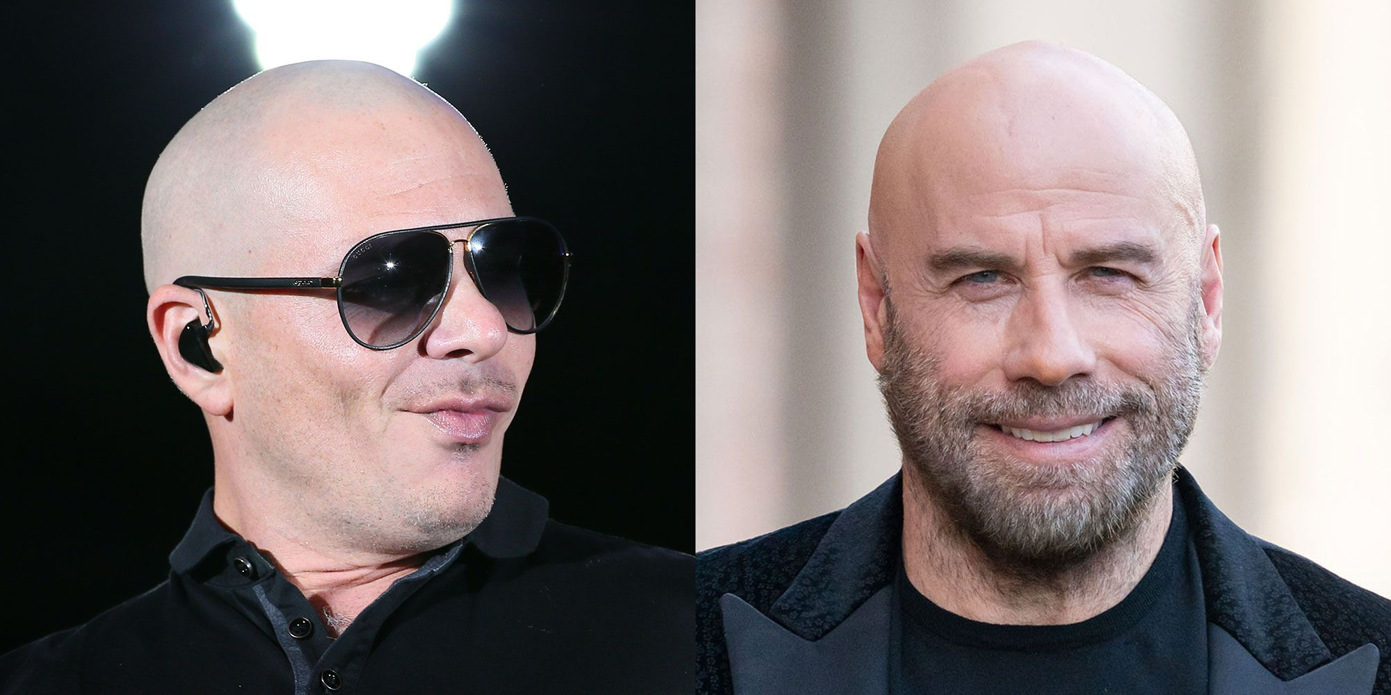 We Have Pitbull to Thank (Blame?) for John Travolta's Bald Head