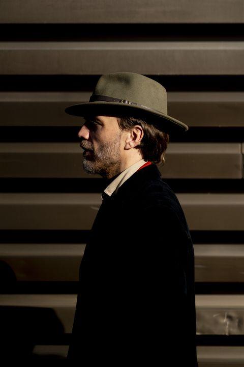 Hat, Fedora, Headgear, Facial hair, Fashion accessory, Bowler hat, Rabbi,