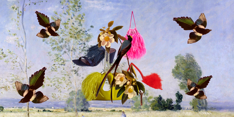 Painting, Plant, Art, Butterfly, Visual arts, Flower, Fictional character, Illustration,