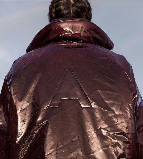 Outerwear, Clothing, Jacket, Leather jacket, Sleeve, Back,