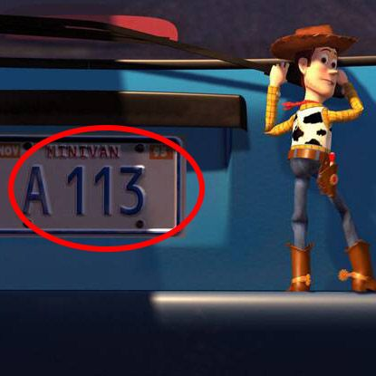 Pixar Easter Eggs - A113