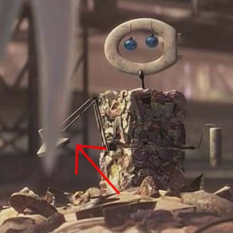 Pixar Easter Eggs - Luxo Lamp