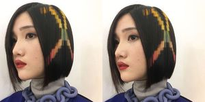 Pixelated Hair Dye Trend