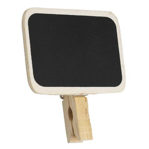 Menaje: Pizarra mini con pinza para marcar platos