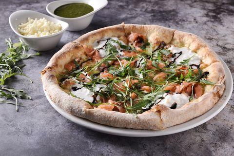 pizza affumicata, de Ôven mozzarella