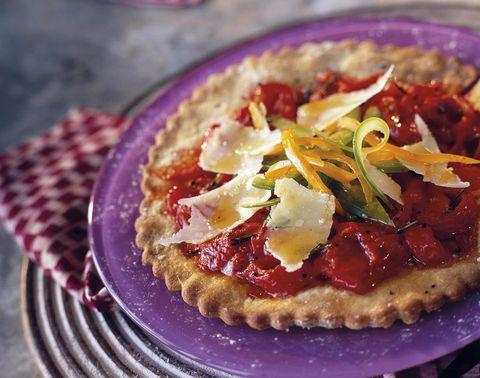 Pizza casera de pimientos