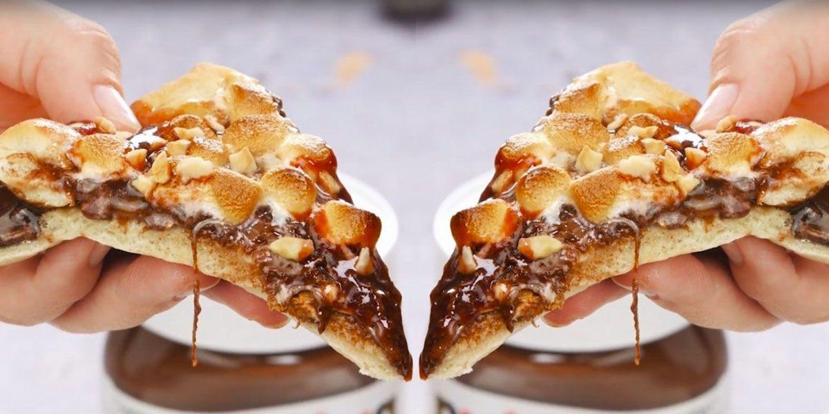 pizza con la nutella