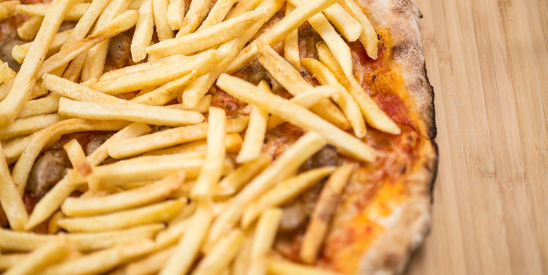 pizza patatas fritas
