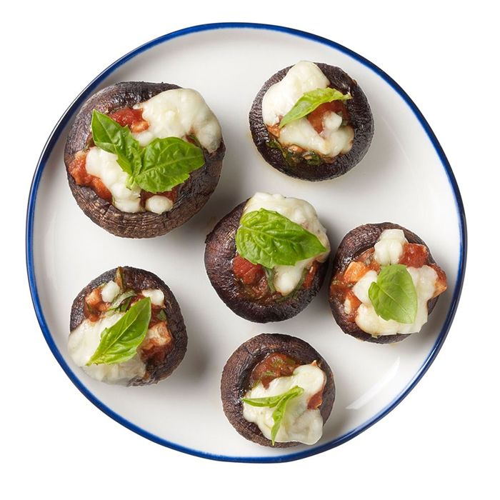 pizza-stuffed mushrooms
