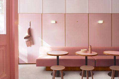 La pizzería más famosa de Londres es vegana y de color rosa