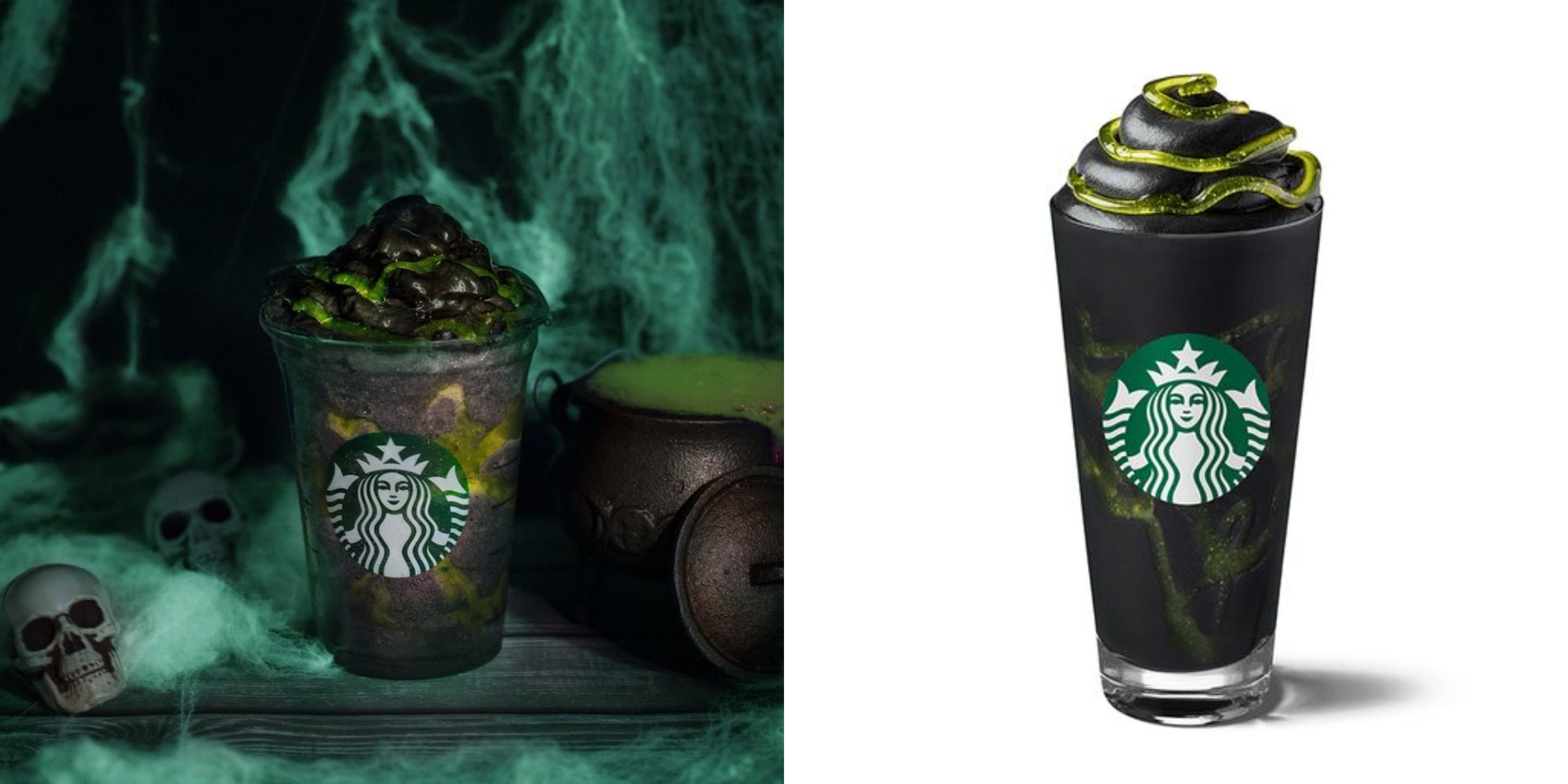 Starbucks Is Launching A Phantom Frappuccino Made With Black Charcoal Powder And Topped With Green Slime