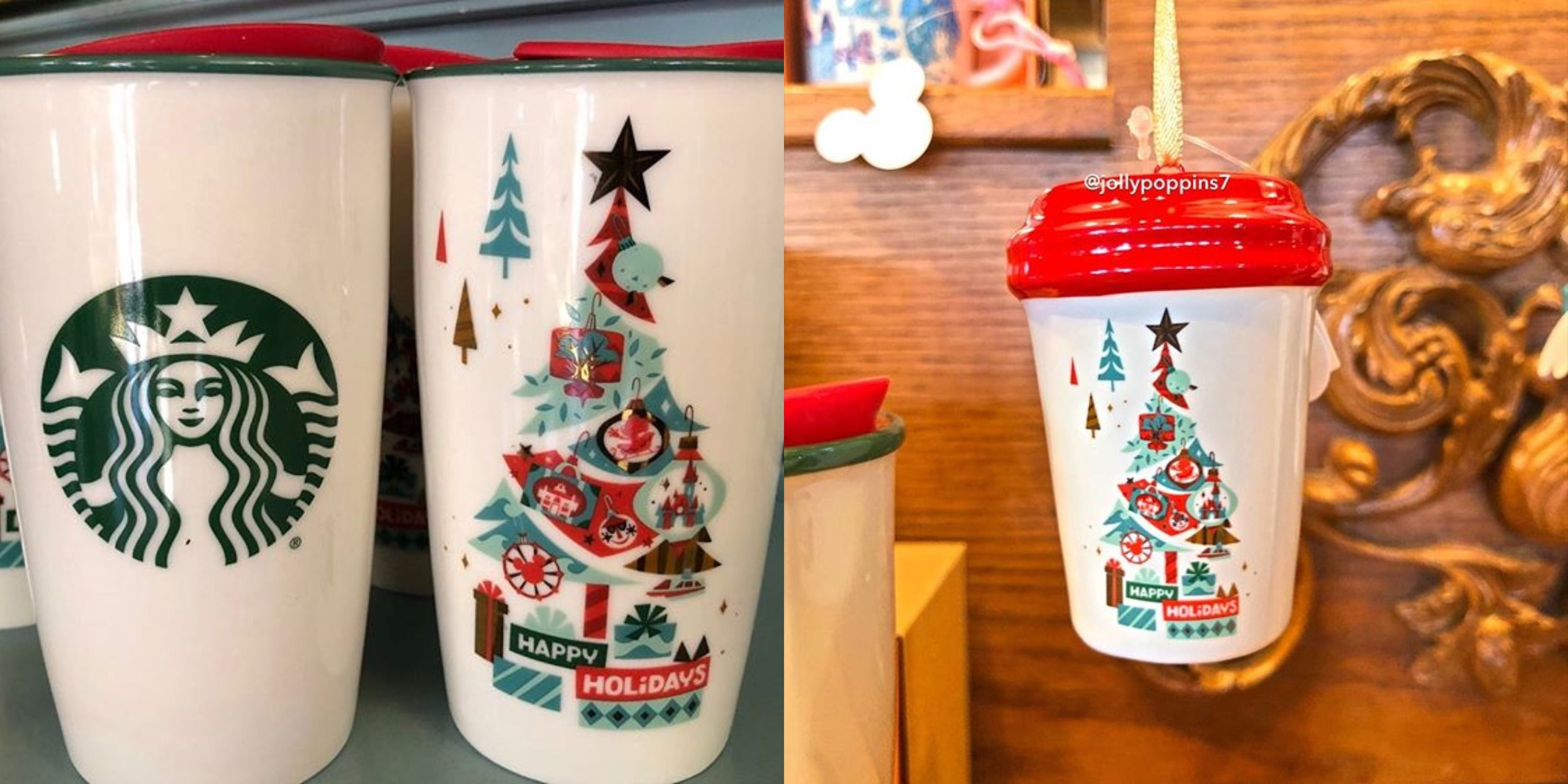 Starbucks Christmas Ornaments 2019.Disney Released New Holiday Mugs And Ornaments At Its Starbucks