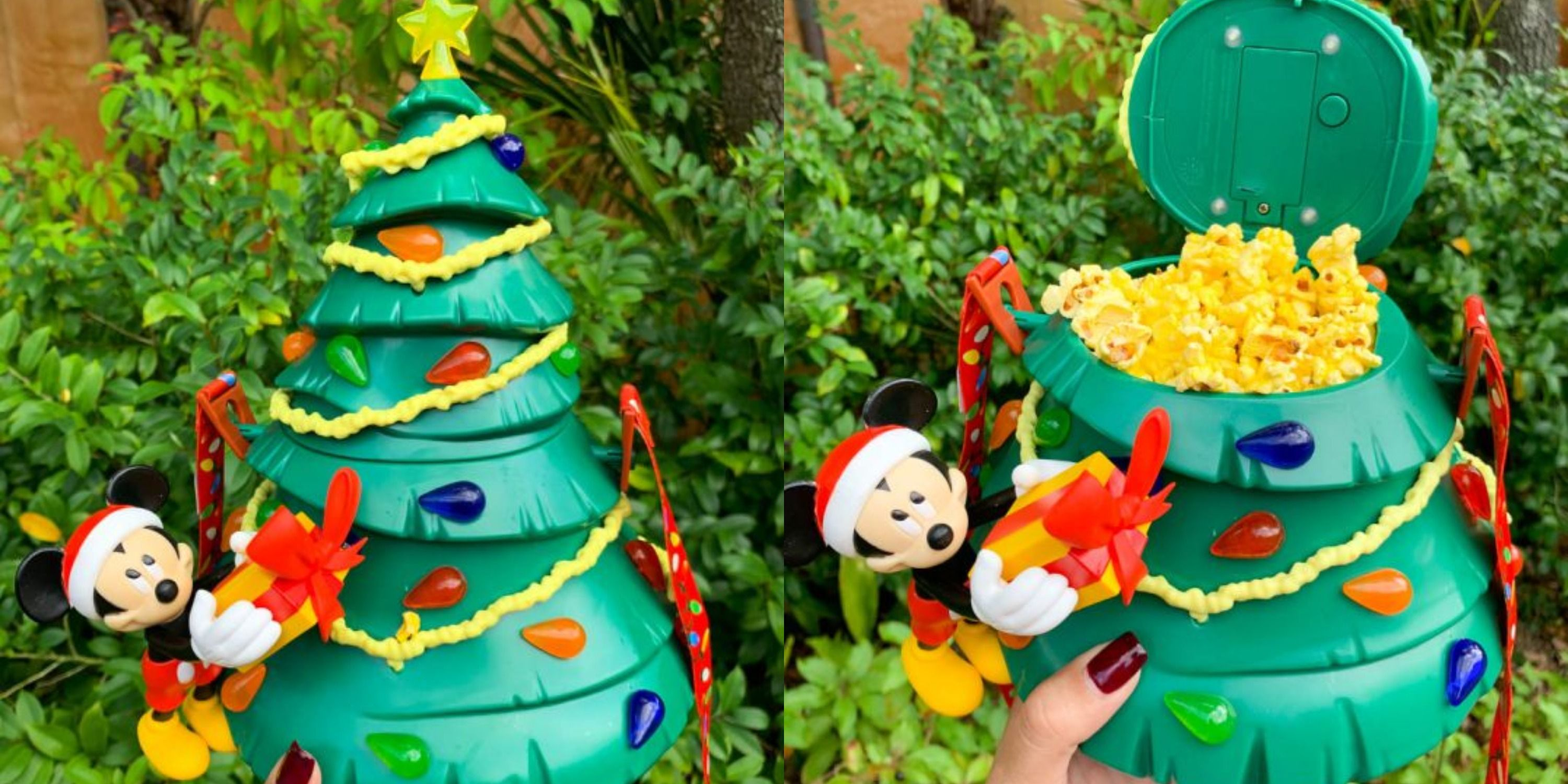 Disney World Has Light Up Mickey Christmas Tree Popcorn