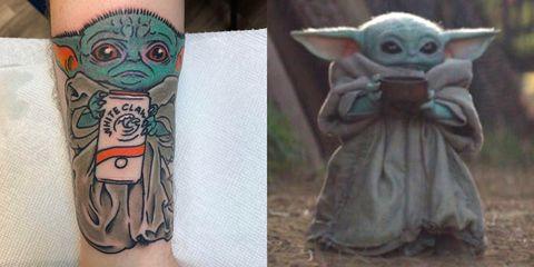 Yoda, Arm, Fictional character, Tattoo, Art, Drawing, Illustration,