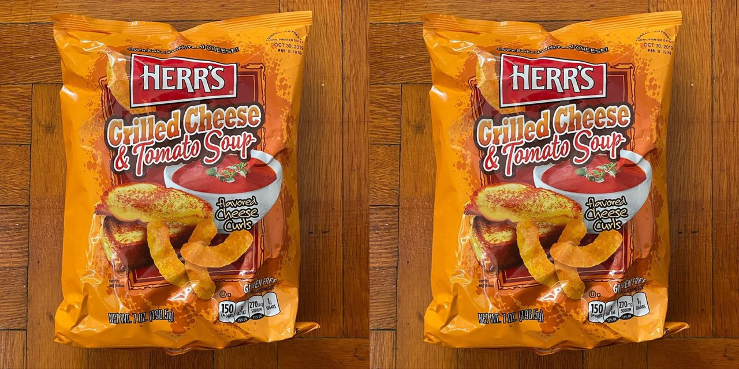 These Cheese Curls Taste Like Grilled Cheese And Tomato Soup So They're The Perfect Winter Snack