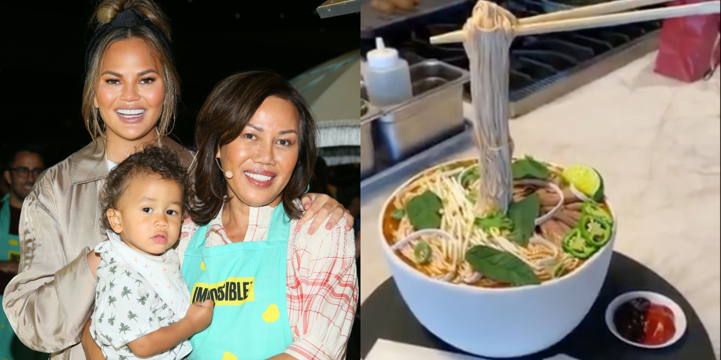 Terrific Chrissy Teigen Got Her Mom A Birthday Cake Made To Look Like Pho Birthday Cards Printable Giouspongecafe Filternl