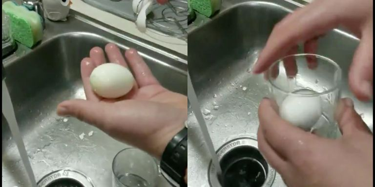 The internet is losing its mind for this hack that helps you peel a hard-boiled egg in seconds