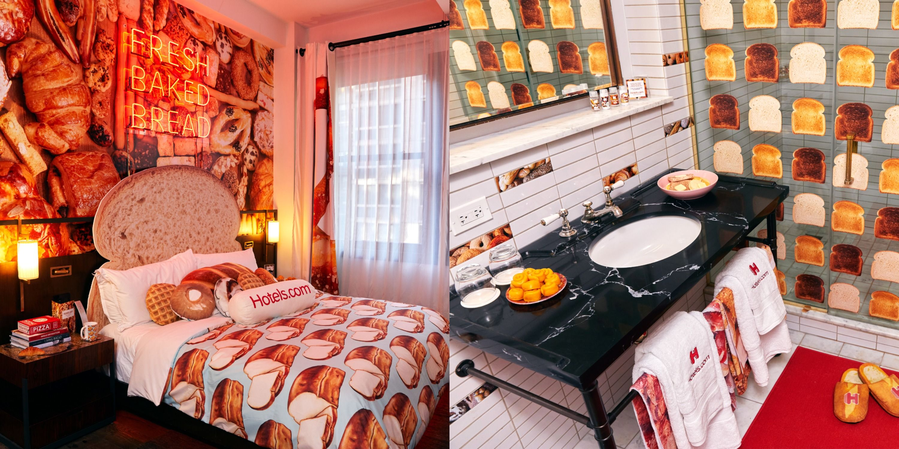 This Carb-Themed Hotel In New York Is Covered In Doughnuts, Bagels, And Pastries That You Can Really Eat