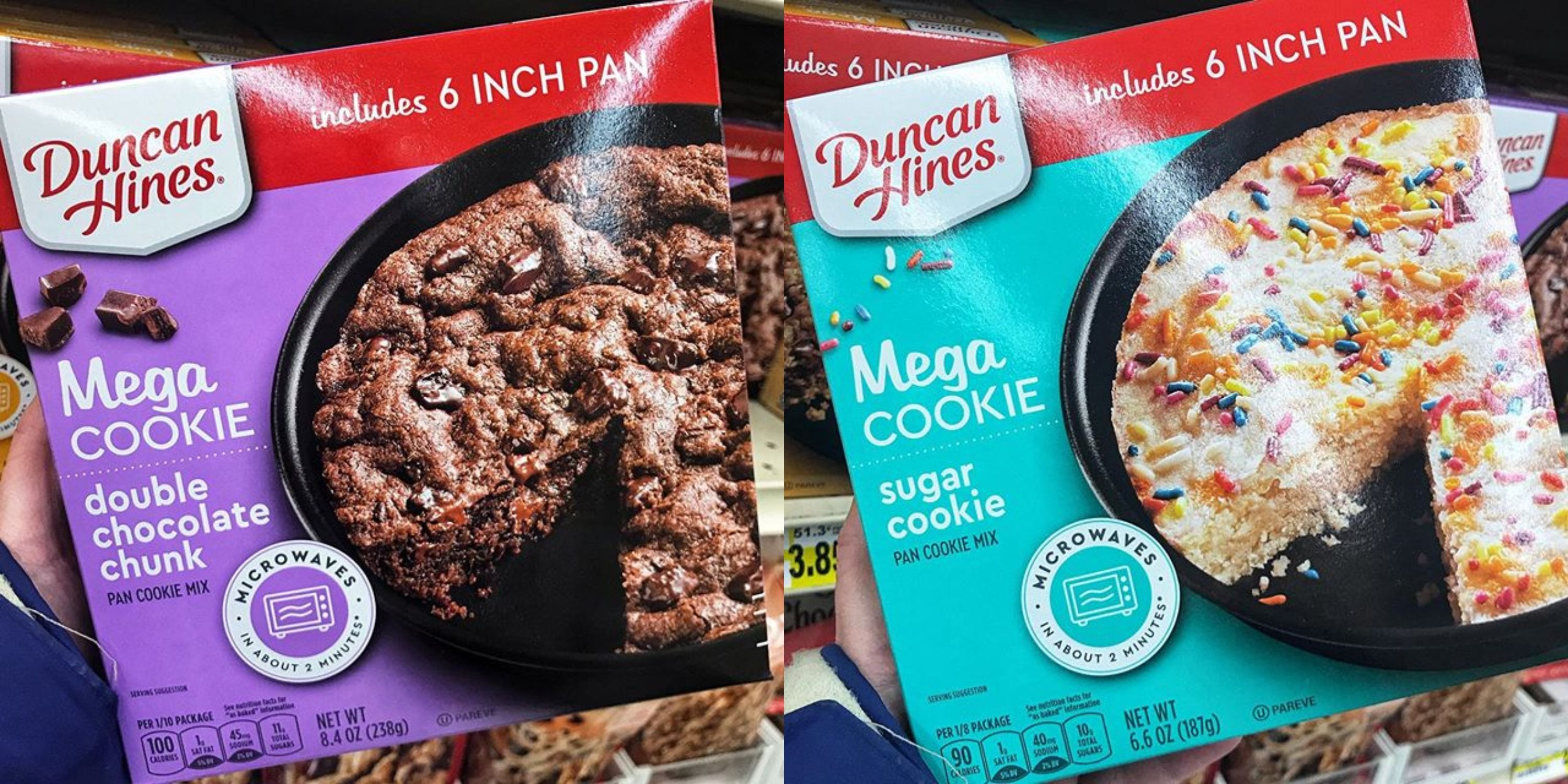 Duncan Hines Released A New Line Of Massive Microwavable Cookies
