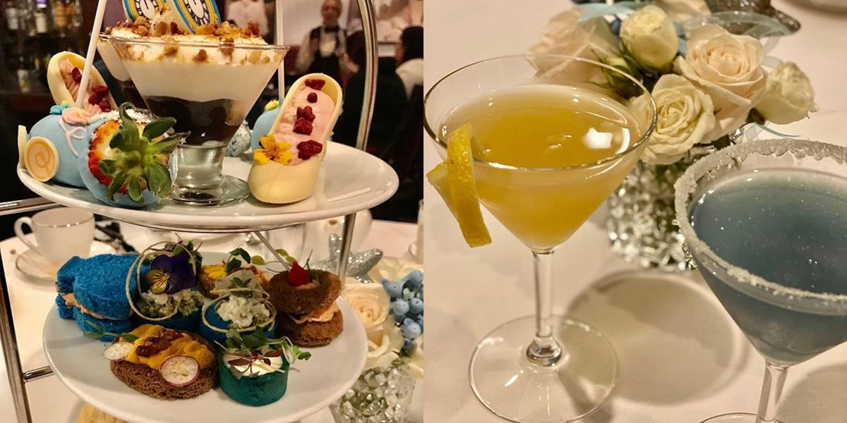Disney's Cinderella Tea Meal Has A Glass Slipper Chocolate And Sparkly Cocktails