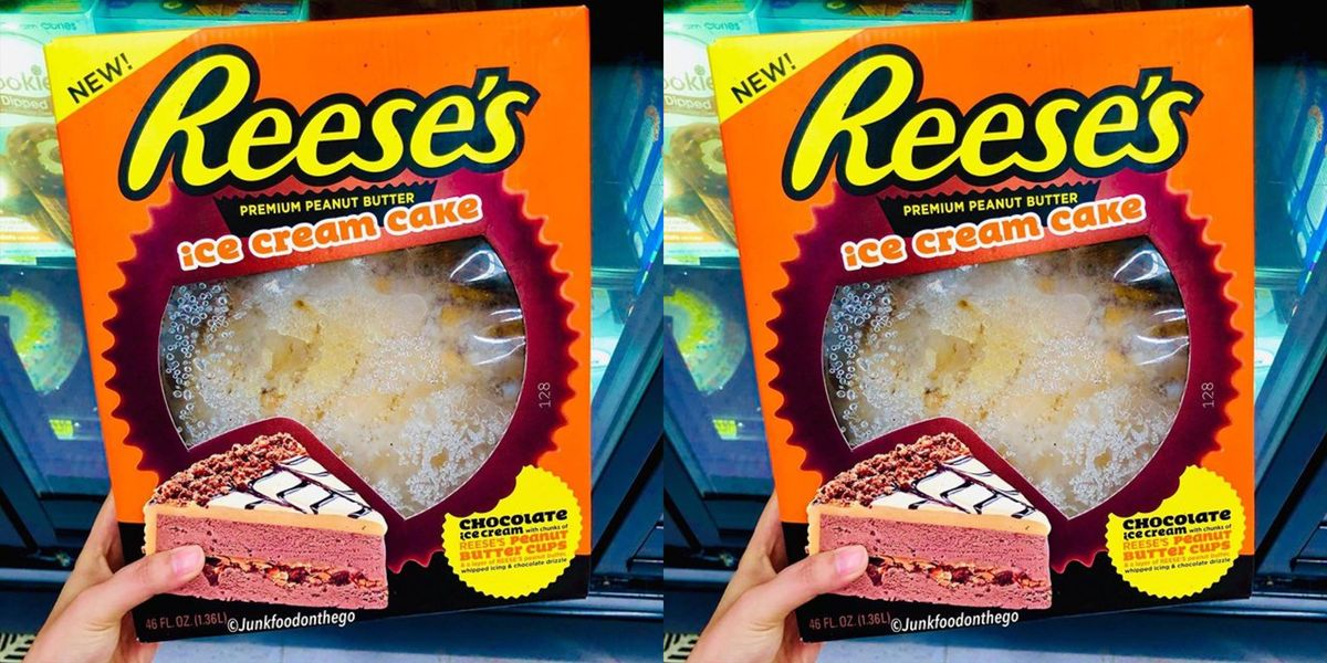 Walmart Is Selling A Reese's Ice Cream Cake That Has A Whole Layer Of Peanut Butter Cups