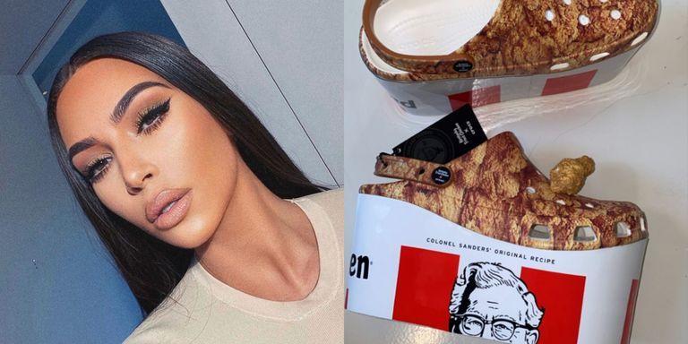 Kim Kardashian Got A Pair Of KFC Platform Crocs
