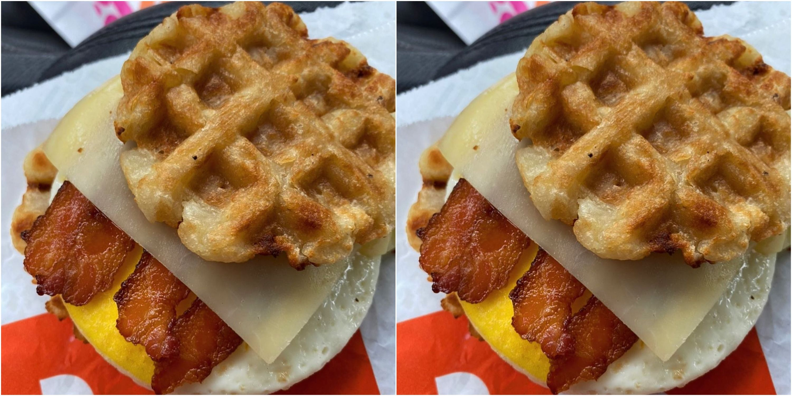 Dunkin Is Testing Waffle Style Hash Brown Breakfast Sandwiches