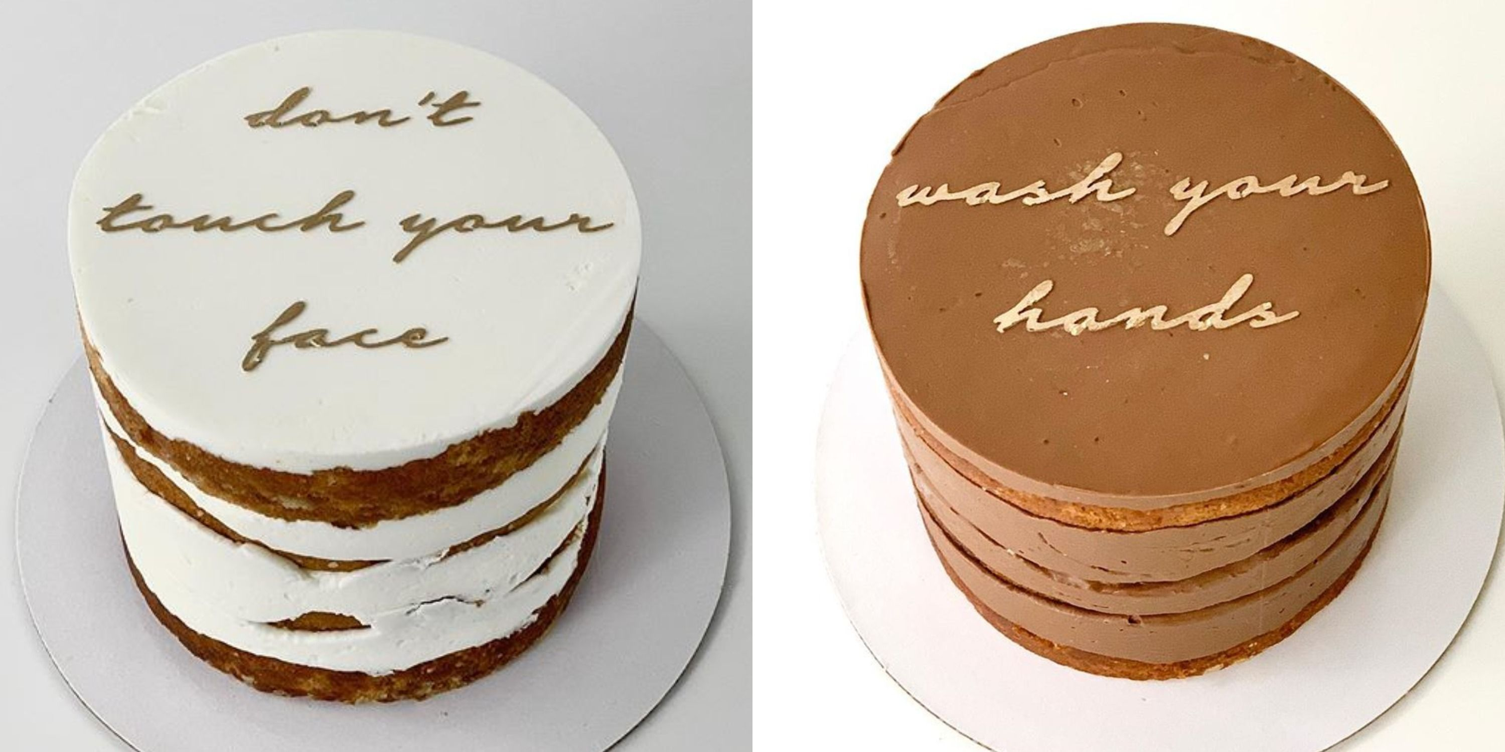 Wondrous A Bakery Is Selling Small Quarantine Cakes Personalised Birthday Cards Cominlily Jamesorg
